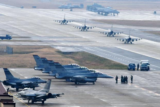 US Forces Participate in Military Maneuvers in South Korea