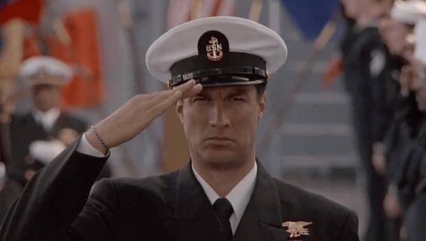 Steven Seagal salute in Under Siege