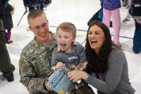 Military spouse with family
