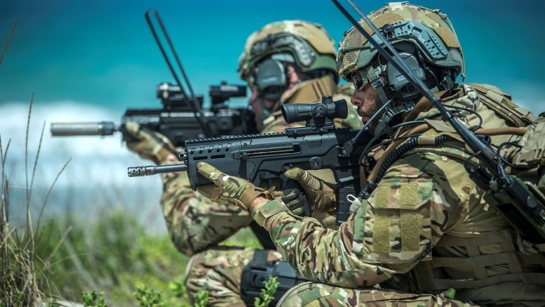 Israel special force with 7.62mm Tavor-7