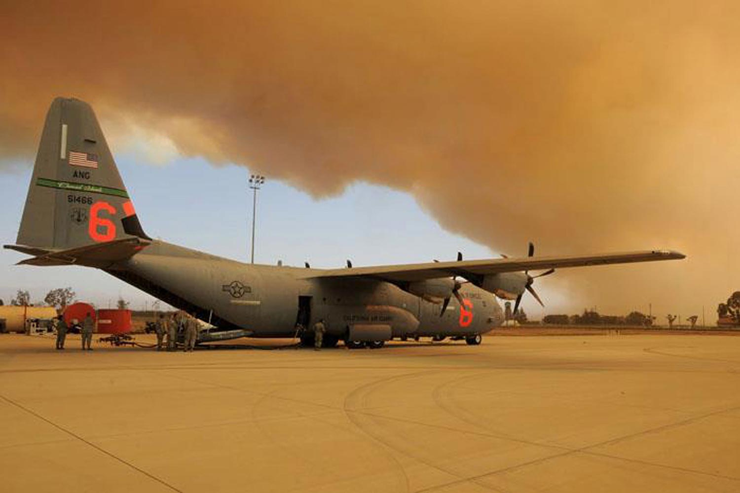 Reaper Drones, C-130Js Join Battle Against California Wildfires