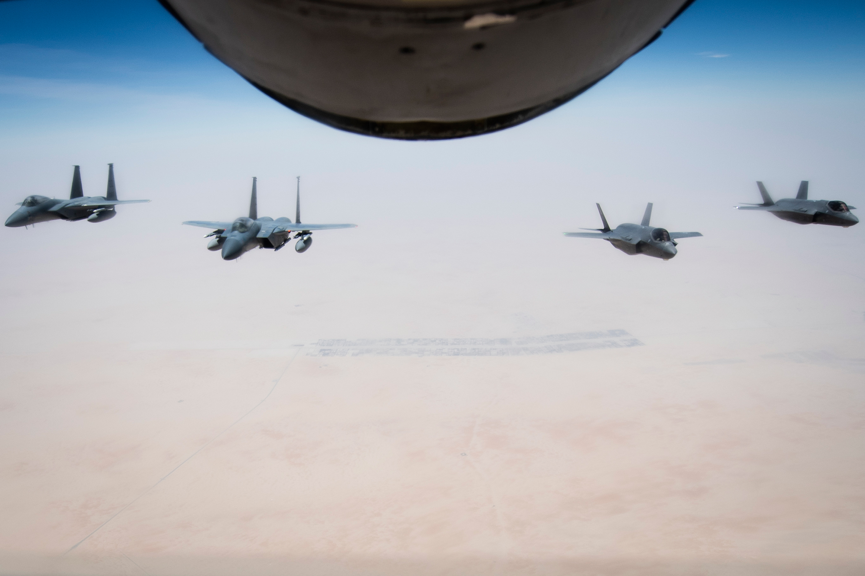 F-35 Joint Strike Fighter Executes 1st Alert Status Drill in the Middle East