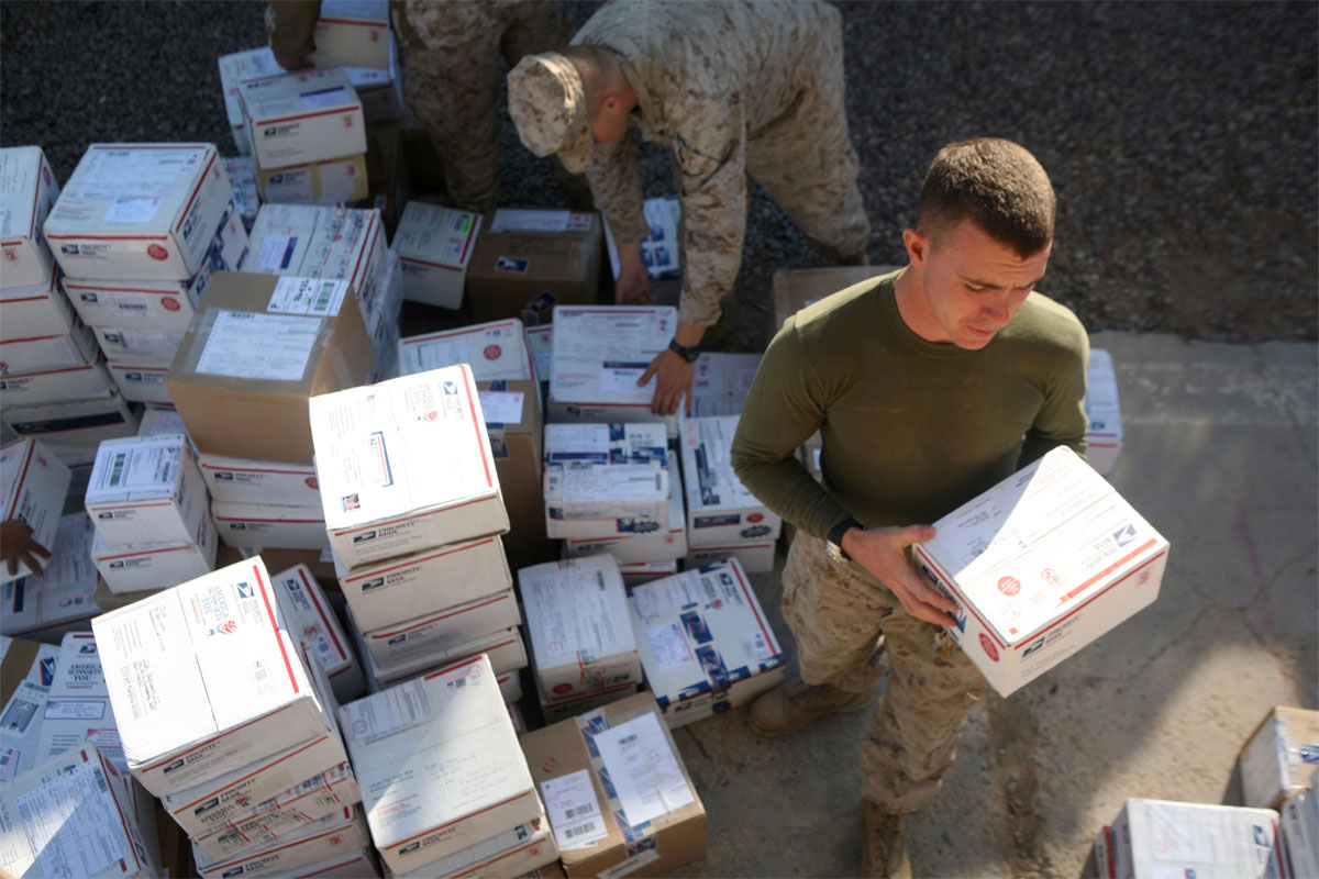 military guide to shipping packages | military