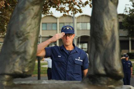 Veteran Salute Coast Guardsmen Rememb...