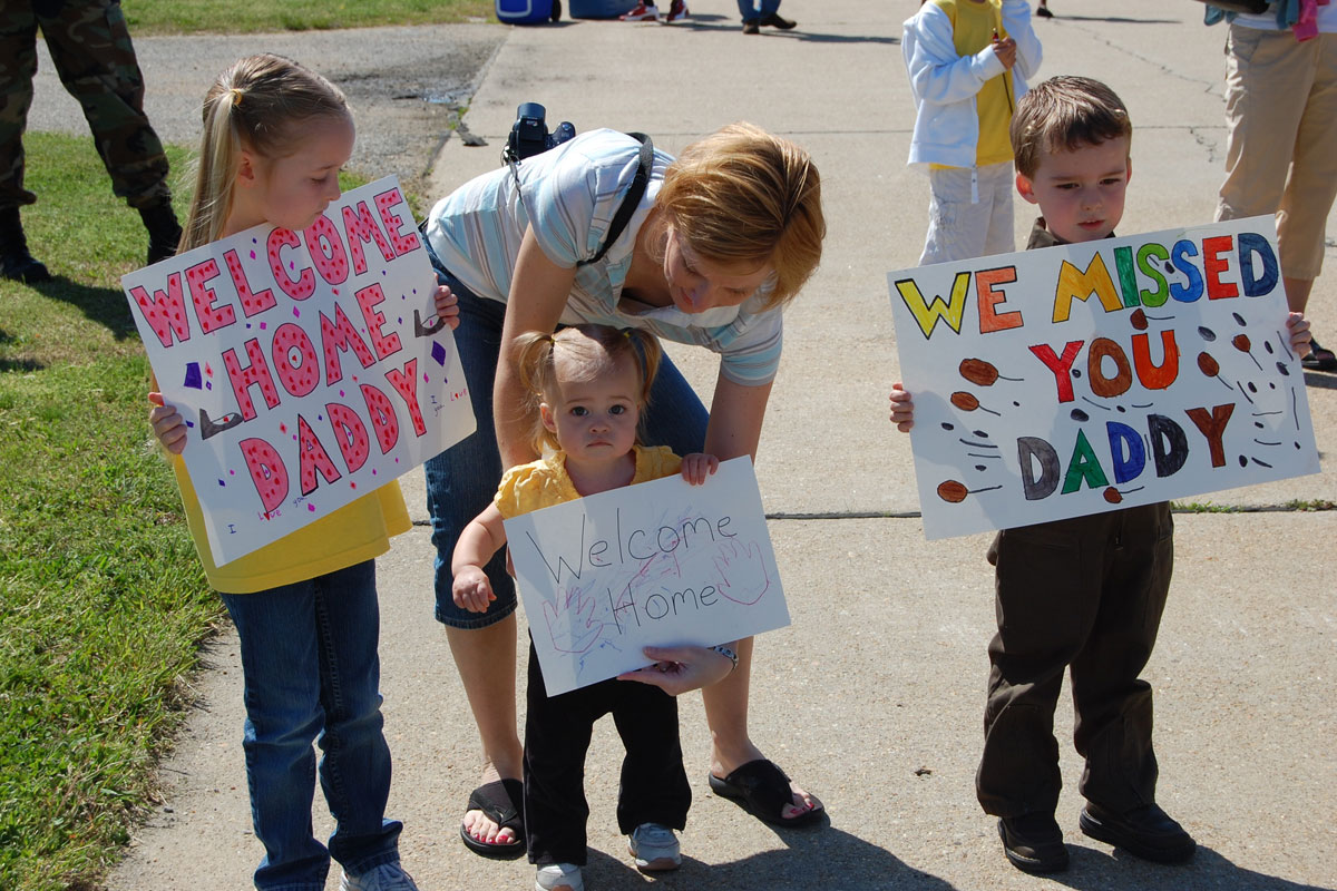 Air Force Family Welcomes Home Airman