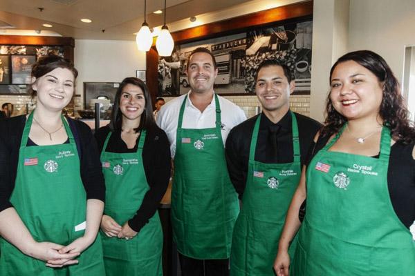 starbucks family stores focus on vet hiring community