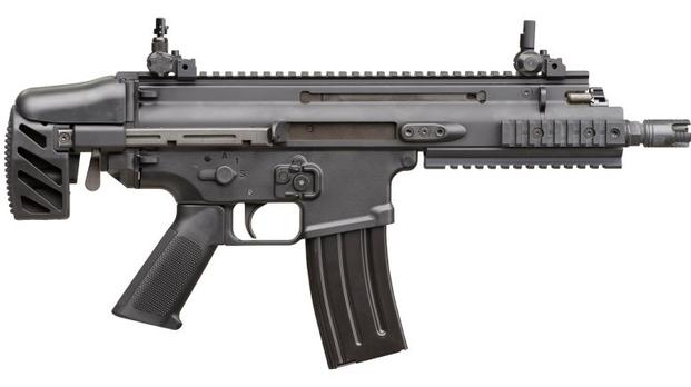 FN Herstal's newest addition to the Special Operations Forces Combat Assault Rifle family -- the FN SCAR SC subcompact carbine. Photo: FN Herstal.