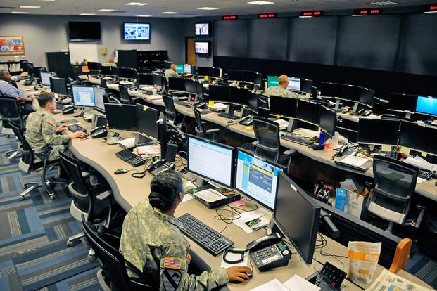 The Cyber Operations Center on Fort Gordon, Ga., is home to signal and military intelligence non-commissioned officers, who watch for and respond to network attacks. (Photo: U.S. Army/Michael L. Lewis)