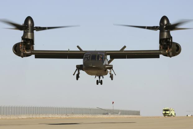 Bell Helicopter's V-280 Valor tilt-rotor aircraft completed the maiden flight around 2 p.m. local time at the company's Amarillo, Texas, facility, according to the company. (Bell Helicopter photo)