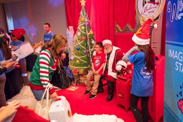 Yellow Ribbons United hosted a Winter Wonderland party for the kids of deployed troops. (Yellow Ribbons United)