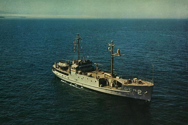 A photo of the Pueblo in the Puget Sound  (United States Navy)