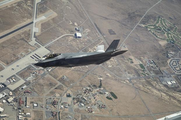 An F-35A Lightning II from the 461st Flight Test Squadron soars over Edwards Air Force Base on Sept. 15, 2017. (Chad Bellay/Lockheed Martin)