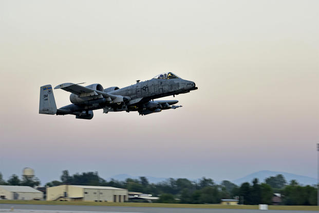 "An A-10 Thunderbolt II takes off from Incirlik Air Base, Turkey in July 2017. Since then, a squadron of the ""Warthogs"" has left the base for reassignment to Afghanistan. (US Air Force photo/Ramon Adelan)"