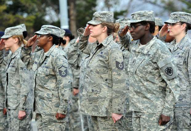 Airmen participate in an all-women's retreat at Osan Air Base, March 29, 2012. (U.S. Air Force/Craig Cisek)