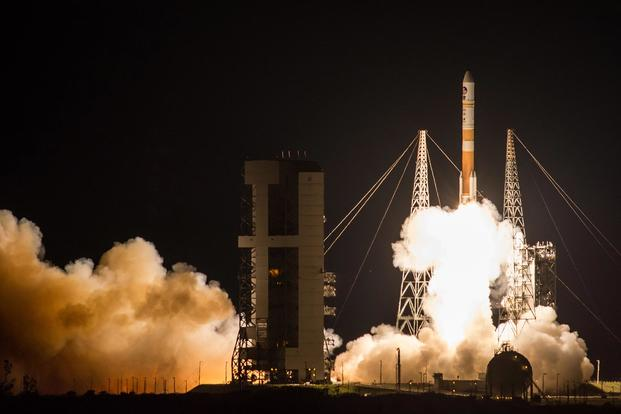 The U.S. Air Force successfully launched the ninth Boeing-built Wideband Global SATCOM satellite aboard a United Launch Alliance Delta IV Evolved Expendable Launch Vehicle from Space Launch Complex 37B, Cape Canaveral Air Force Station, Florida, March 17, 2017. (Courtesy photo/ United Launch Alliance)