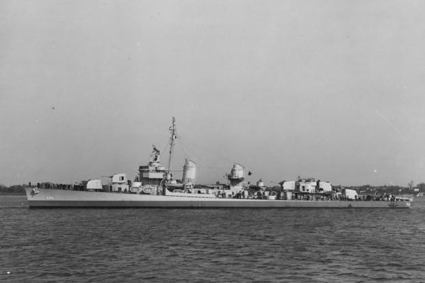 Navy destroyer USS Radford.
