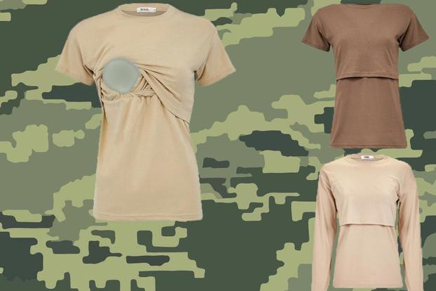 Air Force Instruction 36-2903, Dress and Personal Appearance of Air Force Personnel, has a new guidance on wearing a nursing undershirt while in uniform, July 13, 2018. (U.S. Air Force photo illustration/Senior Airman Ashley Maldonado)