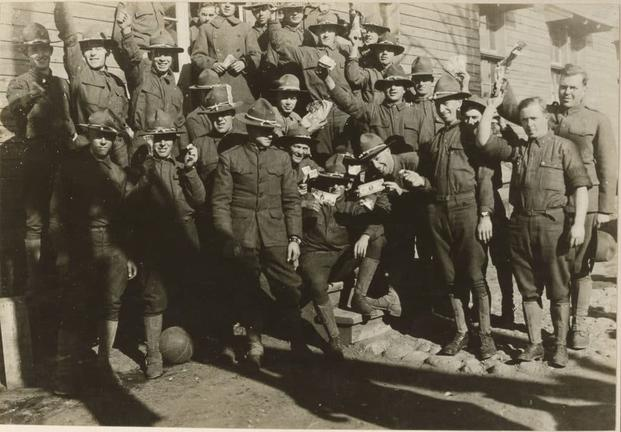 Troops are paid at Camp Devens, Massachusetts. (Photo: National Archives and Records Administration)