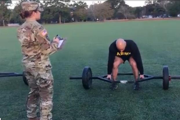 Military Com Gets A Demonstration Of The Proper Technique For The Strength Deadlift Portion Of