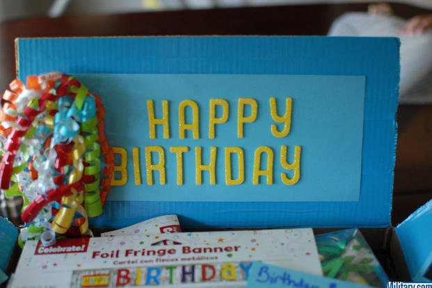 Your military birthday care package box will be a treat for any birthday boy or girl. (Military.com)