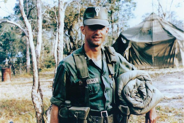 24-Year-old, 1st Lt. James Lawrence at his base camp in Vietnam, shortly before the battle of Landing Zone Albany. (Photo courtesy of James Lawrence)
