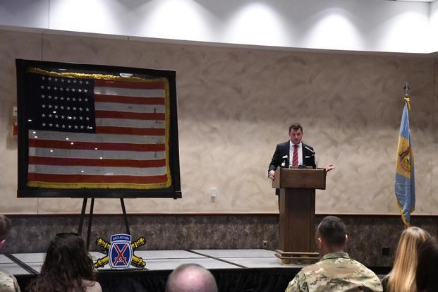 Historic World War II Flag Returns Home to Fort Drum