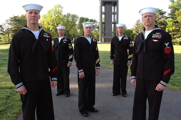 6e98bcba FILE -- The five finalists in the Navy Reserve Sailor of the Year  competition are