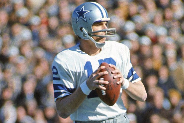 801e470708b Navy veteran Roger Staubach led the Dallas Cowboys to two Super Bowl  victories. (Dallas Cowboys). 7 May 2019