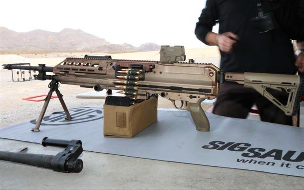 Sig Sauer showed off its new Sig MG 338 machine gun