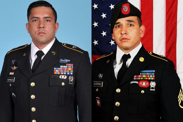 Army Sgt. 1st Class Antonio R. Rodriguez (left) and Army Sgt. 1st Class Javier J. Gutierrez (right).
