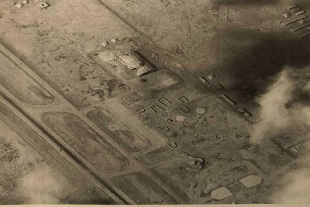 The airport hangar Mark Fox was assigned to bomb.