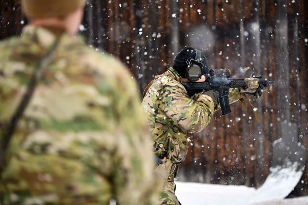 U.S. Special Operations soldiers conduct a live fire training in Germany.