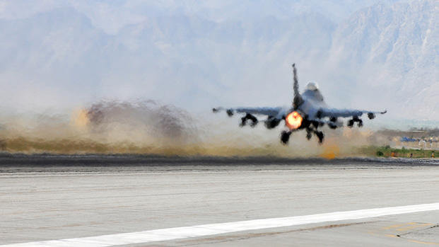 US F-16 Hit by Ground Fire over Afghanistan | Military com