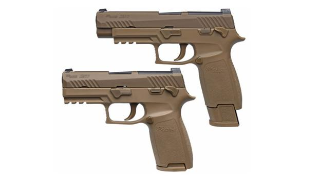 This is the Army's new Modular Handgun System. It's a version of Sig Sauers' P320 pistol. (Photo courtesy Sig Sauer)
