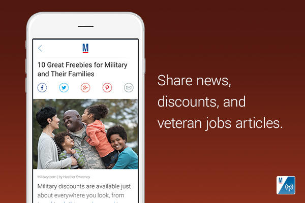 Share news, discounts and veteran jobs articles