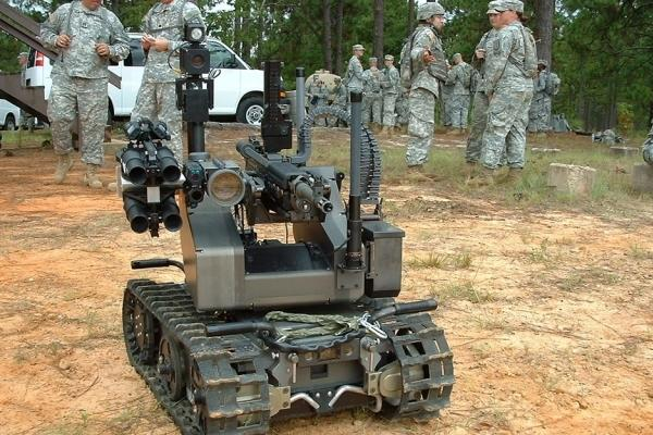 The MAARS is one of three robotic, unmanned vehicles demonstrated to Soldiers from the 519th Military Police Battalion, 1st Maneuver Enhancement Brigade, Aug. 5, 2015. It is equipped with non-lethal and lethal armament. (US Army photo)