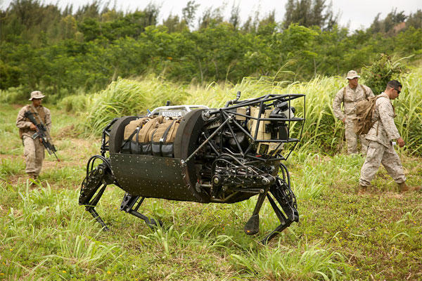 The Marine Corps Warfighting Lab tested an experimental Legged Squad Support System during RIMPAC 2014. (Marine Corps/Sarah Dietz)