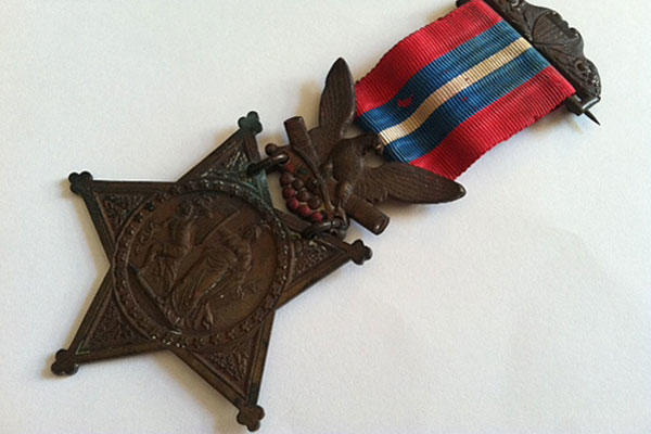 "The medal awarded to then-Colonel (and later Maj. Gen.) Joshua L. Chamberlain for his ""distinguished gallantry"" in leading the 20th Maine volunteers on the second day of the Battle of Gettysburg."