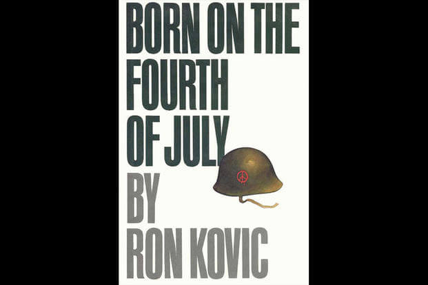 Book cover for Born on the 4th of July by Ron Kovic.