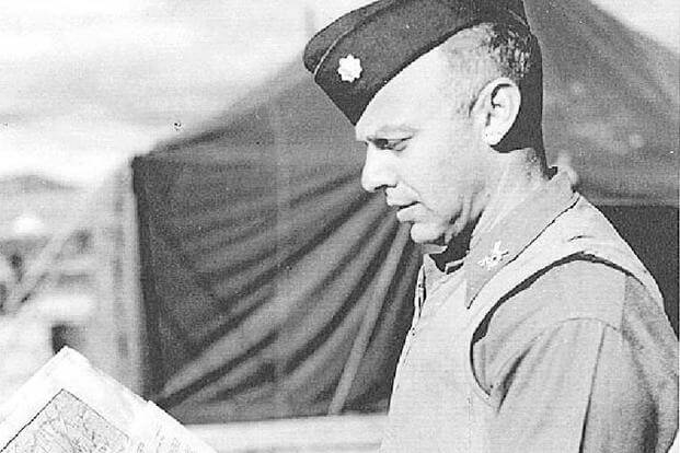 Lt. Col. Howard S. Levie in Panmunjon in December 1951 when he was the Army Briefing Officer assigned to the United Nations Armistice Commission. (Photo: Naval War College)