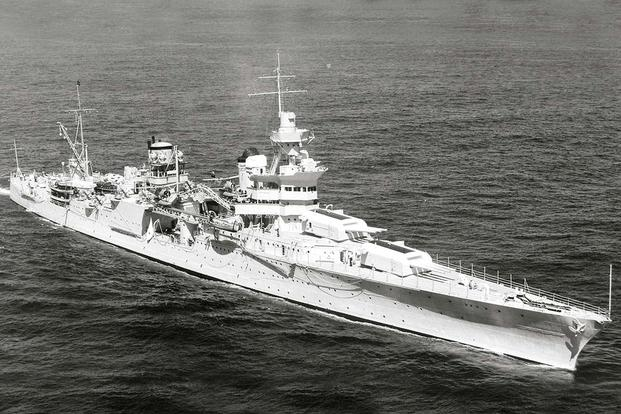 USS Indianapolis (CA-35). (U.S. Navy photo.)