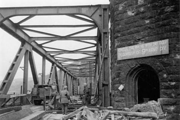 Ludendorff Bridge crossing the River Rhine in Germany. (Photo: U.S. Army)