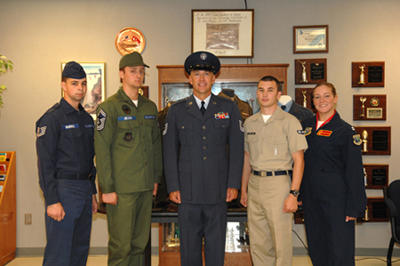 Airmen featuring historical uniforms.