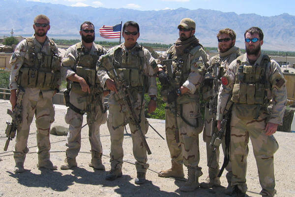 Navy SEAL team with Marcus Luttrell, the lone survivor.