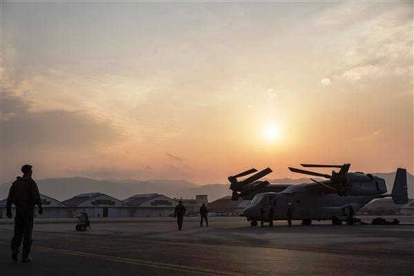 An MV-22 Osprey squadron is stationed at Marine Corps Air Station Futenma in Okinawa, Japan. A lawsuit has been filed to stop the base's relocation. (Marine Corps/Benjamin Pryer)