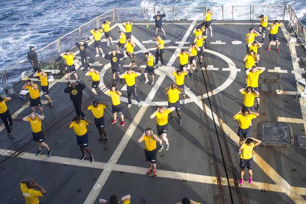 Screen grab from video highlighting changes to Navy PFA (Navy Video)