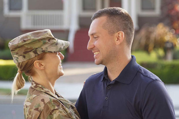 A military couple buying a home