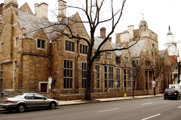 This Feb. 2, 2007, file photo shows Calhoun College, one of the 12 residential colleges housing Yale undergraduates. There's push to strip the name of John C. Calhoun, a white supremacist, from the building at Yale University. Bob Child/AP