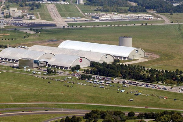 Aerial view of the National Museum of the United States Air Force. (U.S. Air Force photo)