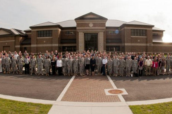 More than 200 U.S. Army public affairs professionals from around the world pause for a group photo during theArmy Worldwide Public Affairs Symposium, May 16, 2012 at Joint Base Andrews, Md. (U.S. Army Photo by Staff Sgt. Bernardo Fuller)